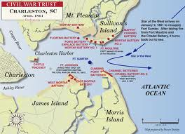 Attack On Fort Sumter CIVIL WAR TIMES - Ft sumter us map